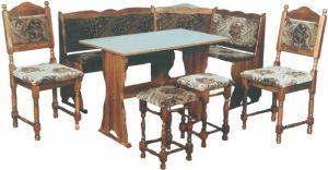 Zobrazit detail - Rohová jídelní lavice K134 borovice + čaloun