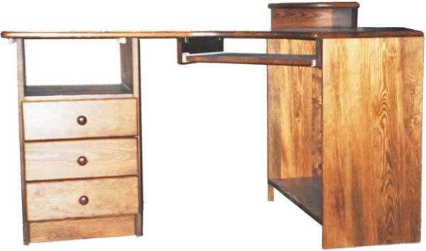 Rohový psací stůl K106