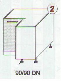 Jednotlivé skříňky ke kuchyňské lince ANTON
