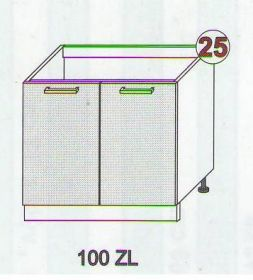 Skříňky ke kuchyňské lince BODE