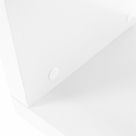 Regál, bílá / jemný lesk, BENITO