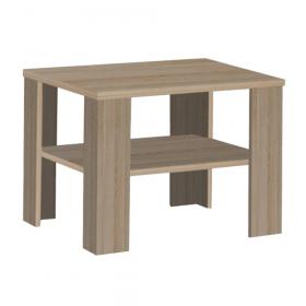 Konferenční stolek, malý, dub sonoma tmavý truflový, INTERSYS 21