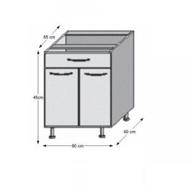 Spodní skříňka, rigolletto dark / rigolletto light / wenge, JURA NEW I D-80 S1