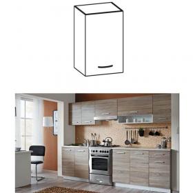 Skříňka do kuchyně, horní, dub sonoma / bílá, CYRA NEW G 30