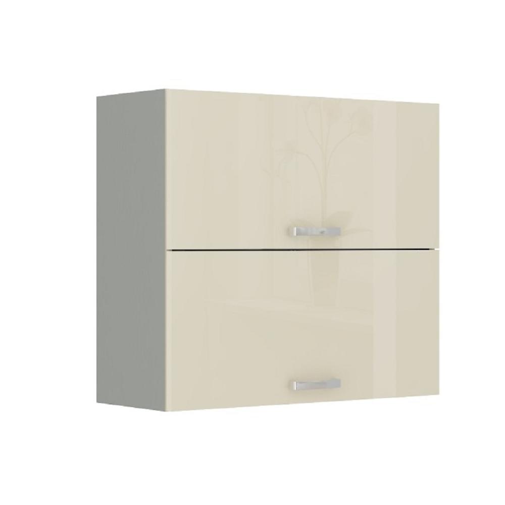 Skříňka horní, krémová vysoký lesk / šedá, PRADO 80 GU-72