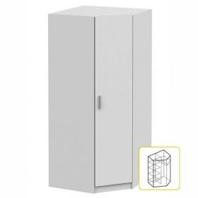 Rohová skříň, bílá, INVITA TYP 3