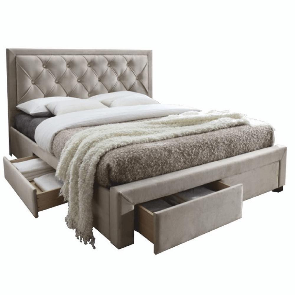 Manželská postel, šedohnědá, 180x200 cm, OREA