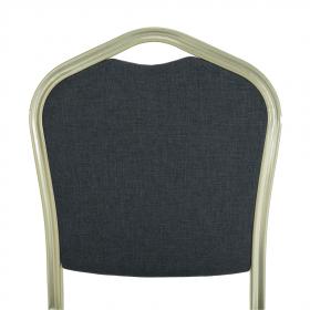 Stohovatelná židle, šedá/champagne, ZINA 2 NEW