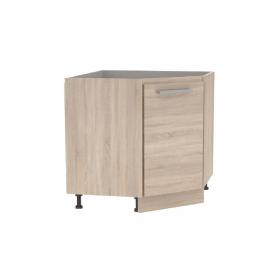 Spodní rohová skříňka, dub sonoma, NOPL-065-RS