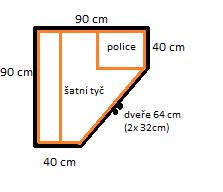 Rohová skříň z masivu K24