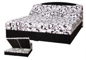 Čalouněná postel Izabela černá